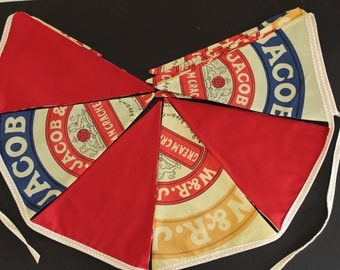 Cream Crackered - custom made unique bunting. Perfect for a cafe or shop window or market stall display or photo prop.