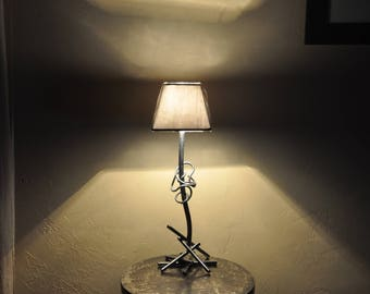 lamp has put handcrafted wrought iron