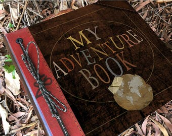 My Adventure Book, Our Adventure Book, Up Adventure Book, Stuff I am going to do, Wedding Adventure, Handmade , Free Personalization, Travel