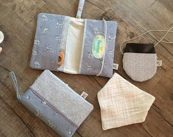 Diaperclutch with Zippered Compartment/ Nappy Wallet/Diaperpouch/Diaperclutchbag/ Momclutch/Diaper clutch/ woodland