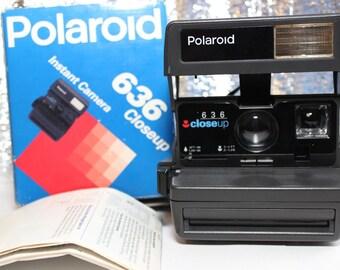 Polaroid 636 closeup instsnt film camera , POLAROID 636, Vintage camera, Retro Camera, Polaroid