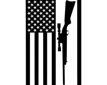 Digi-tizers Rifle Flag (SVG Studio V3 JPG)