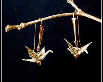 Origami cranes AKISUMI earrings