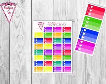 Printable To Buy Half Box Checklists - Bright Colors