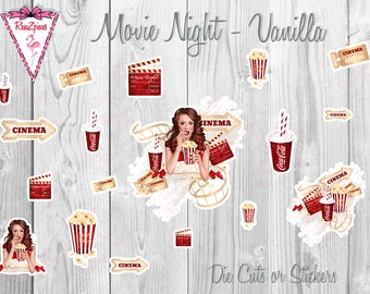 Movie Night - Die Cut / Sticker Set