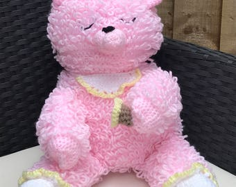 Loopy Baby Teddy Comforter in Pink