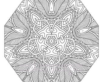 Tribal Coloring Page