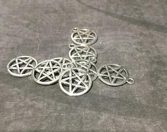 Pentagram Charms/pentagram/pentacle/charms/pentacle charms/Wiccan/pagan/pagan charm / wiccan charm