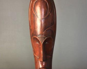 African mask - wooden tribal art. Hand made.