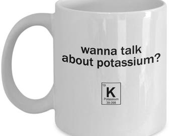 Nutritionist Gifts – Funny Registered Dietitian Chemist Scientist Potassium Mug – Periodic Table Element – Dietician Day Gag Gift Coffee Mug