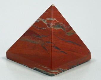 Brecciated Jasper Pyramid  | Healing Stone | Altar Stone | Grid Stone | Reiki Healer | Wiccan | Pyramid Stone | 50mm Pyramid | Metaphysical