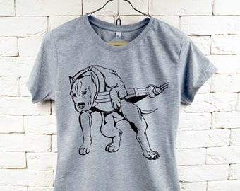 PITBULL Dog Gray T-Shirt For Women