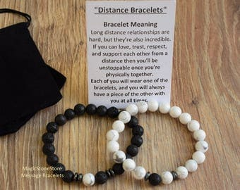 long distance relationship bracelet his and her bracelet distance bracelet distance couple bracelet long distance bracelet gift for him men