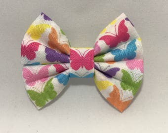 Butterfly Kisses - Fabric Barrette Bow