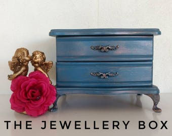 Jewellery Box/ Jewelry Box/ Gift for her/ Bridesmaid Gift/ Trinket Box/ Wooden Jewellery Box/ Gift Box/ Ring Keeper/ Wooden Box