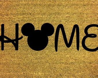 "Custom HOME Mouse Inspired 24""x35"" Doormat"