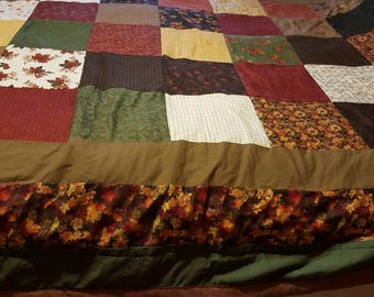 Fall colored queen quilt