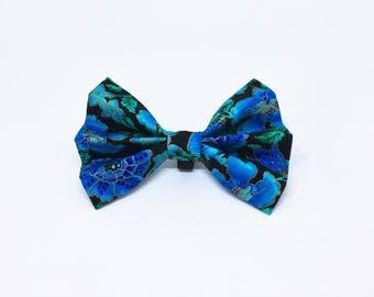 Dog Collar Bow Tie - Collar Bow Tie - Blue Collar Bow Tie