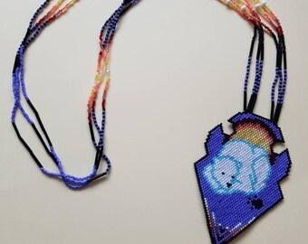 Polar Bear Beaded Necklace