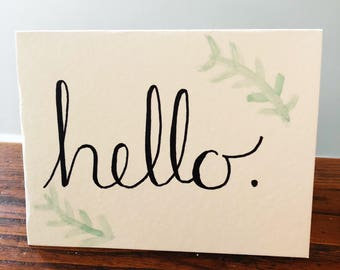 hello greating card