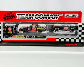 Vintage Matchbox 93 Limited Edition Super Star Team Convoy Davey Allison Nascar