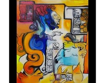 Maya table Morgane Monnet, print on plexiglass, signed by the artist