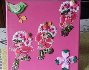 beautiful 30/30 cm Strawberry painting