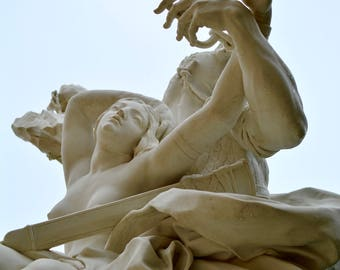 Digital Download Photography - Palace of Versailles Paris France Statue Garden