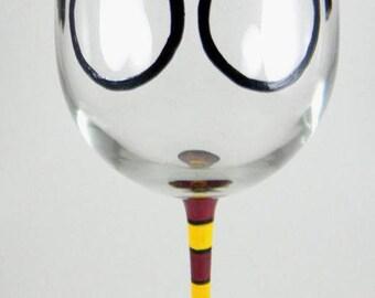 Hand Painted Harry Potter custom made Wine Glass