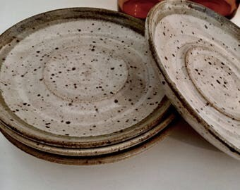 Pottery plates | Vintage plates | Dessert plates | Ceramic plates