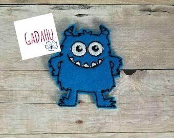 Cute Little Monster feltie. Embroidery Design 4x4 hoop Instant Download. Felties. Halloween feltie 9/19/17