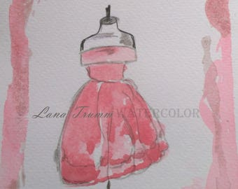 Original Watercolor Dress