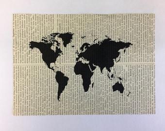 World Book Page Art Print