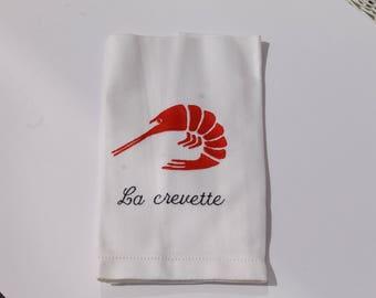 Kitchen towel (lobster design)