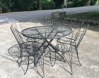 Vintage Mid Century Homecrest Dining Set   Vintage Homecrest Table And  Chairs