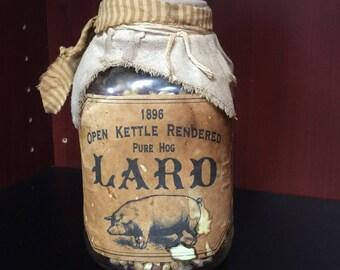 Antique Farm accent Jar