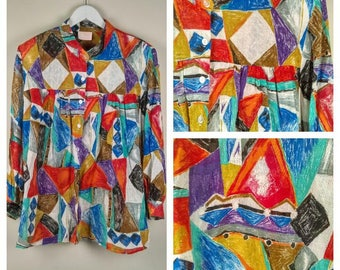 Abstract Multi Color Vintage shirt