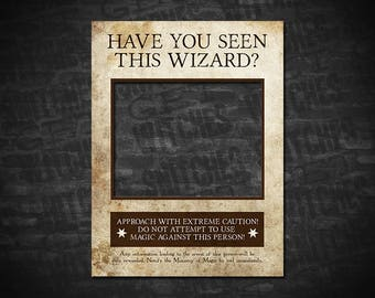 Have You Seen This Wizard? Harry Potter Wanted Poster, Wanted Poster, Printable Wanted Poster, Instant Download