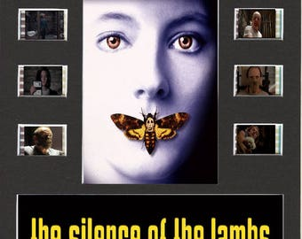 Silence Of The Lambs replica Film Cell Presentation 10 x 8 Mounted 10 cells