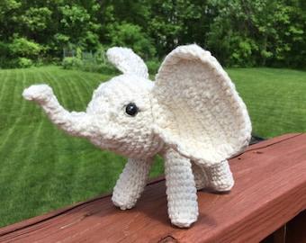 Crocheted White Elephant