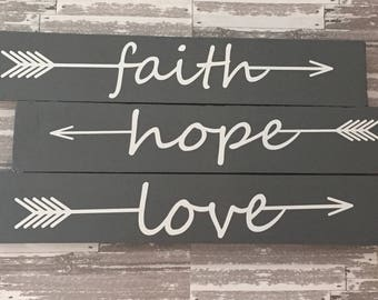 Faith, Hope, Love Sign