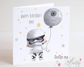 Star Wars Stormtrooper Birthday Card - Dad Daddy