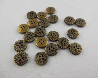Button color acrylic old gold