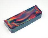 Aurora Opal (120,20 g) - Mehrfarbiger Opal als Rohmaterial zur Herstellung von Opalschmuck (Synthetischer Opal)