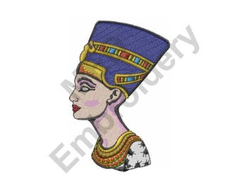 Egyptian Queen - Machine Embroidery Design, Nefertiti - Machine Embroidery Design