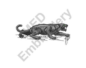 Panther - Machine Embroidery Design, Growling Panther