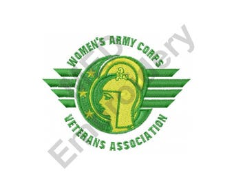 Army - Machine Embroidery Design, Womens Army Corps