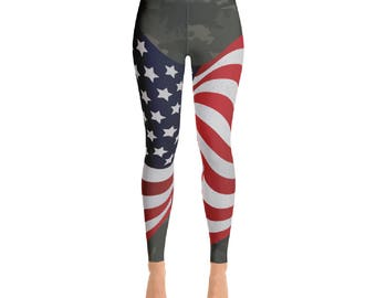 I am American! Yoga Pants - 4th of July Sale