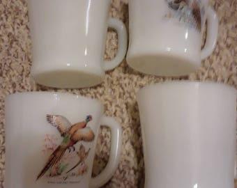 4 Fire king mugs