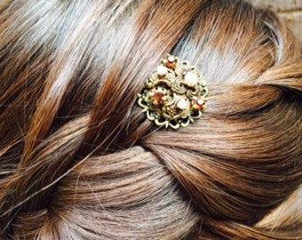 Bronze Bridal Hair Clip